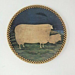 Lenox Warren Kimble Barnyard Animals Plate A0382